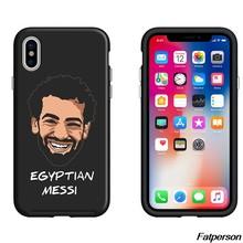 Para Samsung s8 s9plus S6 S7 borde negro funda de silicona suave de Mohamed Salah para Apple iPhone 5S 6 6 s 7 8 plus X10 Coque casos(China)