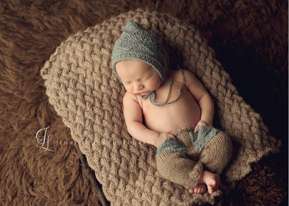 Handmade Newborn hat Baby Crochet pixie pants baby sets Photo photography prop 0-6 MONTH - Mary handmade shop store