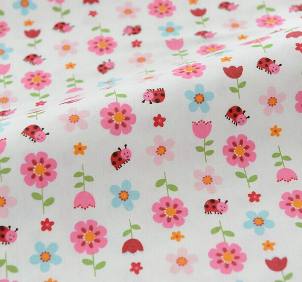1 meter pink 100 cotton flannel fabric for children for Kids cotton fabric