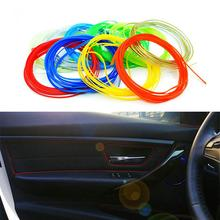 Newest 5m/lot Car Styling Universal DIY Cold Line Flexible Interior Decoration Moulding Trim Strips 10 Colors Accessories