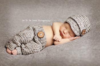 Газетчик моделирование шляпа и брюки младенцы комплект новорожденный ручной работы ...