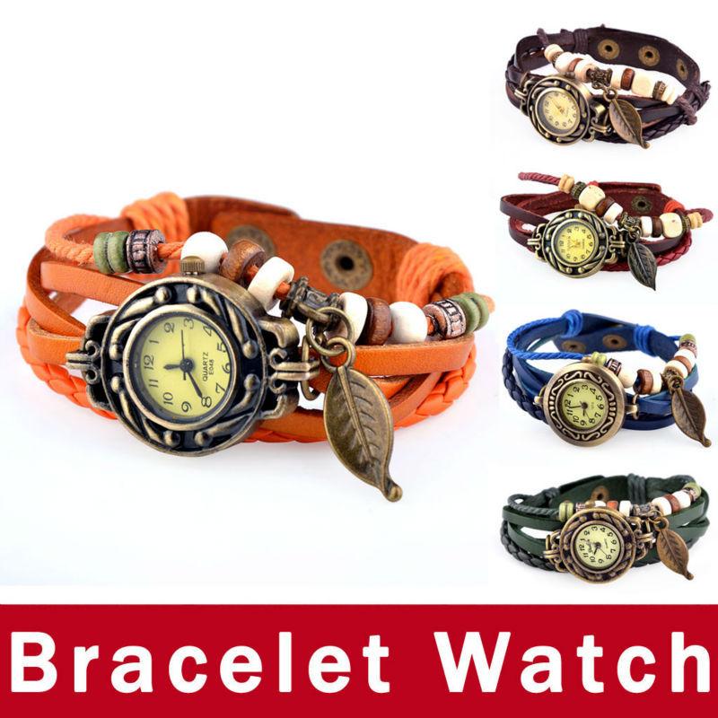 Hot Sale Women Ladies Girls Fashion Long Leather Strap Bracelet Watch Vintage Punk Style Quartz Analog Casual Wristwatch Saat(China (Mainland))