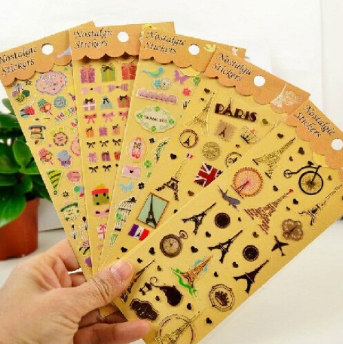 21Style for choose/Vintage Gilding series sticker/Decoration label/zakka Office material school supplies scrapbooking tools<br><br>Aliexpress