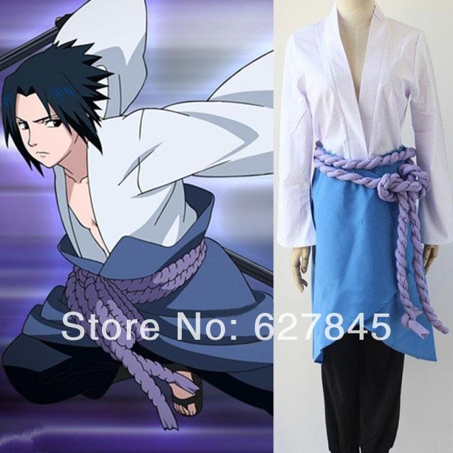 Free Shipping Anime Naruto Shippuden Sasuke Uchiha 3rd Cosplay Costume(China (Mainland))