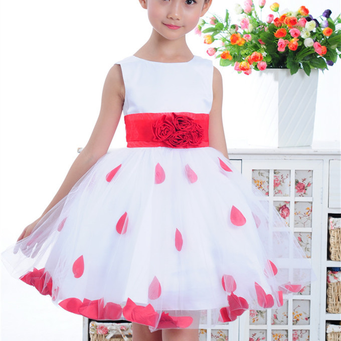 Beautiful fairy dress sleeveless ball gown flower girl dresses girls pageant first communion GD0099 - KIDS SEASON STYLE store
