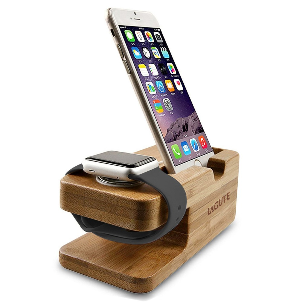 Natural Bamboo Wood Watch Stand for Apple Watch Smart Android Watch Charging Platform Charging Dock Stand Station(China (Mainland))