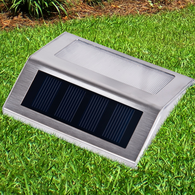 solar lights can stair lamp d corner outdoor patio wall