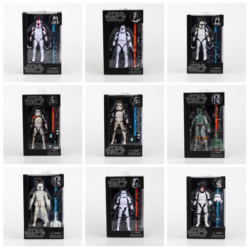 New Stormtrooper Star Wars The Darth Vader Anakin Skywalker PVC Model Action Figure Black Worrior Clone Trooper kids Toys gifts