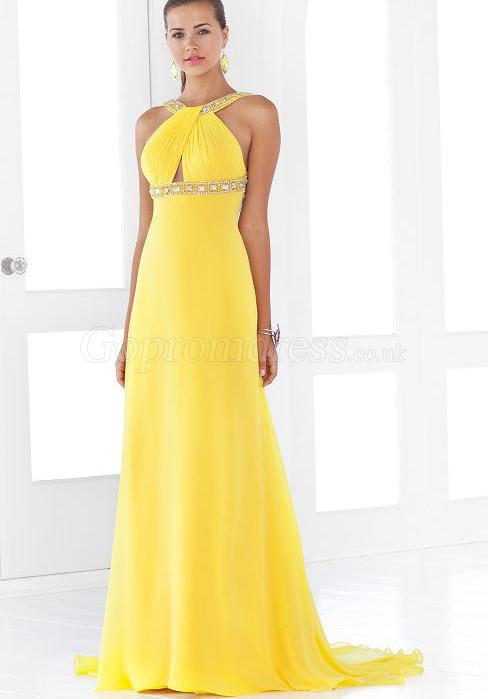 Top Evening Dresses Womens Yellow Evening Dresses
