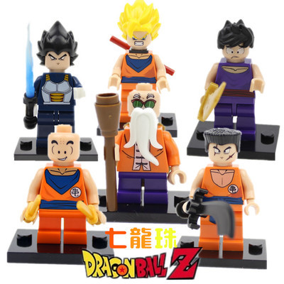 6pcs/lot Decool New arrival Anime Dragon Ball Z Son Goku Vegeta Building Blocks Sets Classic Toys Compatible with lego(China (Mainland))