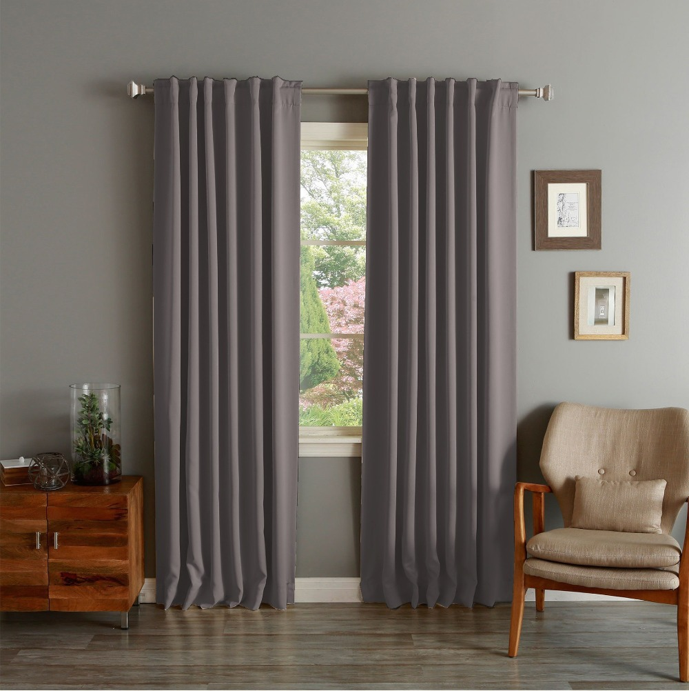 One panel modern solid curtian high grade finished window Contemporary drapes window treatments