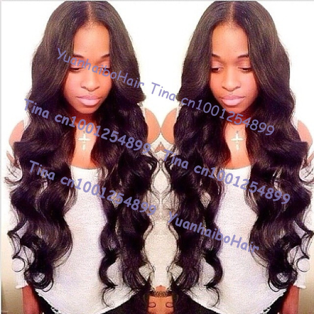 Super 6a quality long 24inch #1b virgin brazilian loose wave glueless full lace wigs extra lace for cut free shipping(China (Mainland))