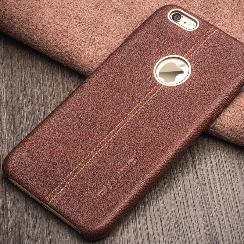 QIALINO High Quality for iPhone 6s Plus / 6 Plus 5.5 inch Luxury Bag Cowhide Genuine Leather Protective Case Phone Cover Shell