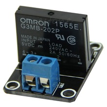 E74 Free Shipping 5V 1 Channel OMRON SSR High Level Solid State Relay Module 250V 2A For Arduino