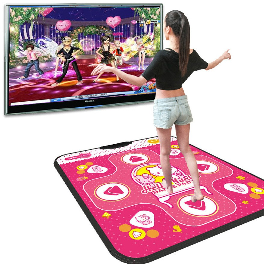 Hot Play Games with your Television Non-slip Dancing Step Dance Mats Pads to Pc USB Dance Paw Pads Shoes Fitness Dance Pads(China (Mainland))