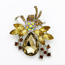 Pabrik Penjualan Langsung Kristal Diamante dan Merah Biru Bening Akrilik Batu Bow Bros Pin Di Berbagai Macam Warna(China)