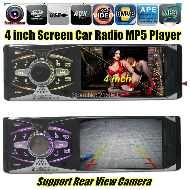 2015 4.1'' inch TFT screen Car Stereo MP3 MP4 MP5 12V Radio Audio video FM/USB/SD/MMC/1 Din In-Dash/AUX IN 1080P player - QING XIN's store