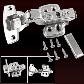 2 Pcs Home Furniture Insert Concealed Cabinet Hinge Silver Tone Free Shipping(China (Mainland))