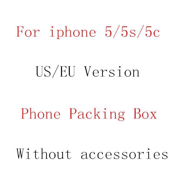 10pcs/lot free shipping high quality EU/US Version PHONE PACKING BOX For iPhone 5 5C 5S box Without Accessories(China (Mainland))