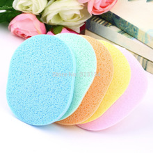 Natural Wood Fiber Face Wash Cleansing Sponge Beauty Makeup Tools Accessories(China (Mainland))
