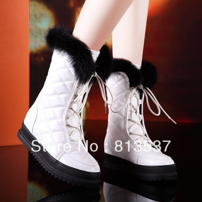 Fashion Brand Genuine Leather Long Boots Flats Winter Fur Women boot Knee-high Ladies Shoe Knight shoes - Nancy Sunshine Store for You store