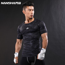 Buy NANSHA Brand-Clothing Gyms Compression T-Shirt Workout Crossfit T Shirt Fitness Slim Tights Casual Shirts Quick Dry Breathable for $8.32 in AliExpress store