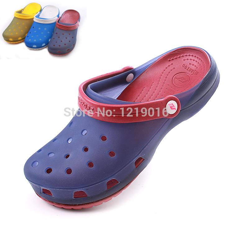 New brand men women garden shoes woman beach clogs sandals ...