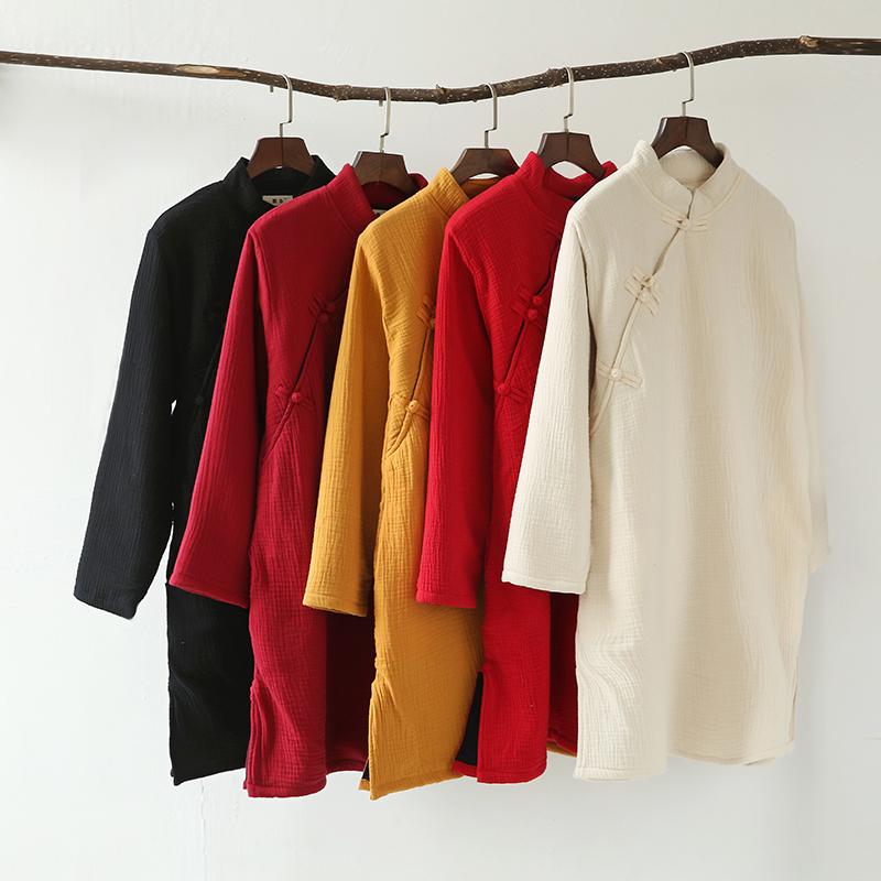 Скидки на 2016 Женщин Зимы Старинные Китайский стиль Стоять воротник Толщиной Paddded Одежда Дамы Ватник Теплый Пиджаки