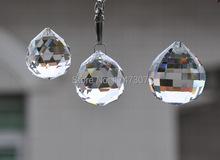 100 шт./лот, Прозрачный цвет 15 мм кристалл граненый мяч, Хрустальная люстра мяч для бисером занавес подвеска