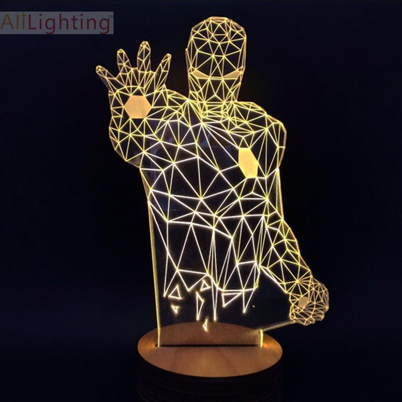 Mood 3D Lamp Hello Kitty Night Light Micro USB Darth Vader Iron Man Table Lamp