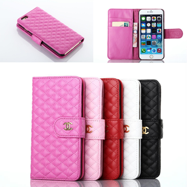 Luxury Wallet Leather Case for iPhone 6 Plus for iPhone 6 with CC Brand Logo, COCO Phone Case Flip Leather Cover Free Shipping(China (Mainland))