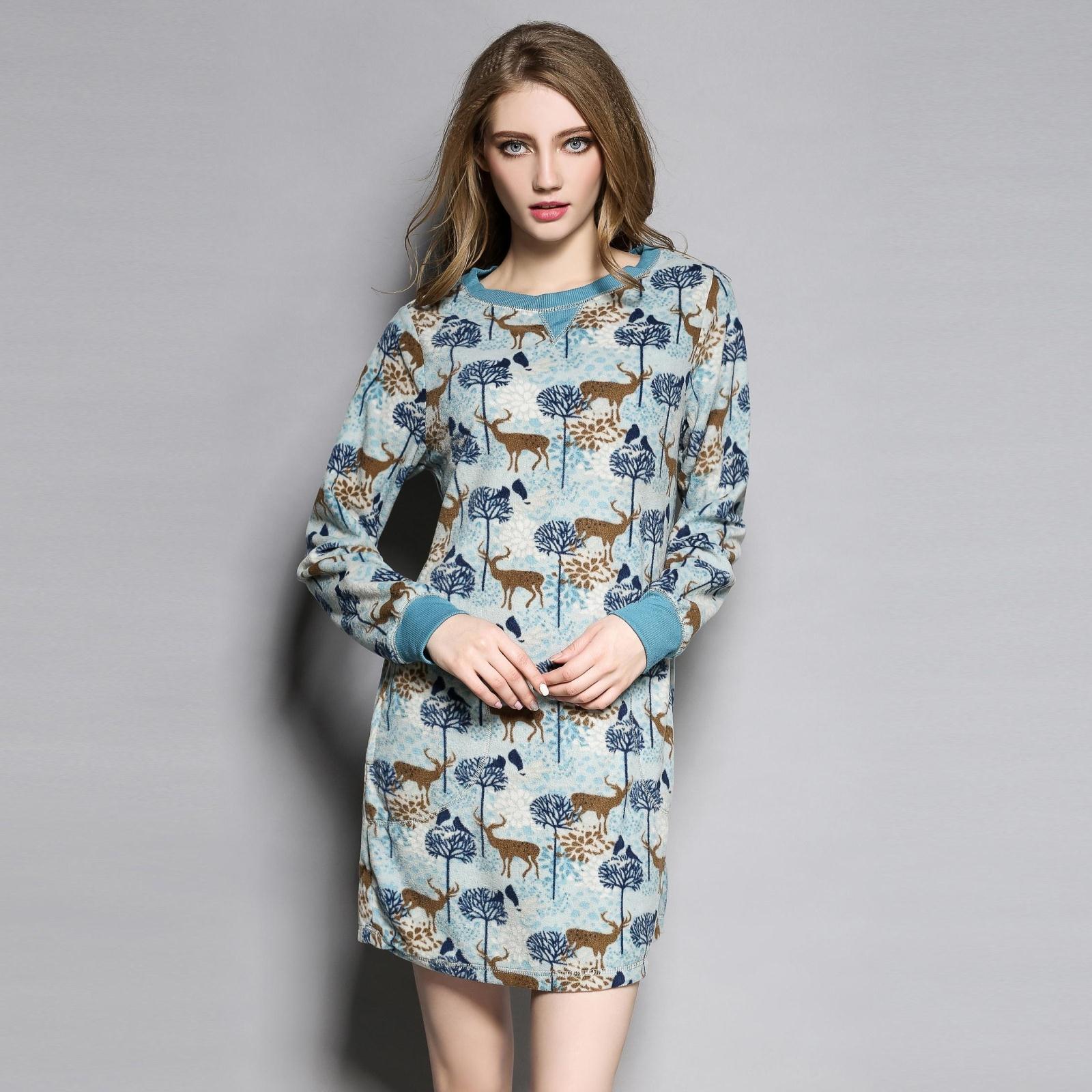 Nightgowns Women Soft Thermal Polar Fleece Fabric Long-sleeve Nightgown Short Robe Nightdress Womens Night RobeОдежда и ак�е��уары<br><br><br>Aliexpress