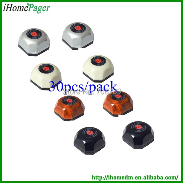 Hot sale wireless calling system waiter caller 50Buttons/pack
