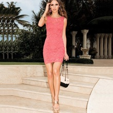 European and Amrican popular fashion night-club sexy dress elegant cute women clothes sexy Cultivate one's morality lace dress(China (Mainland))