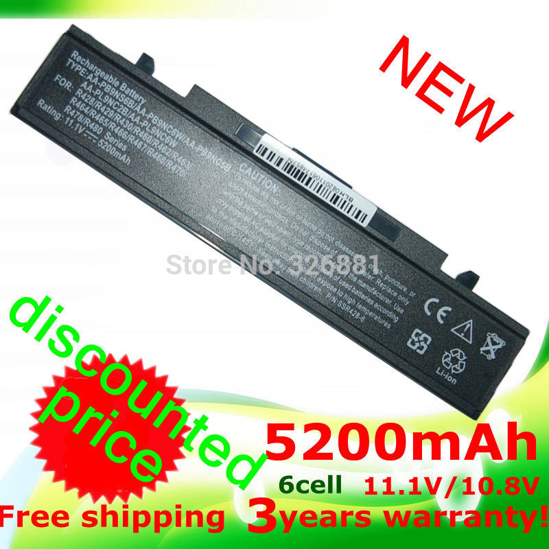 5200mAh battery for samsung RC530 Q320 Q430 Q460 NP-R460 R420 R423 R428 R429 R430 R438 R439 R463 R464 R465 R466 R467 R468(China (Mainland))