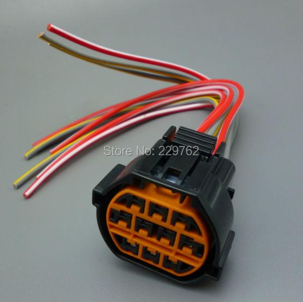 Free Shipping 1PCS 10 Pin Car Headlight Socket FOR Hyundai Kia K2 Auto headlight plug import 10pin car harness Wire connector<br><br>Aliexpress