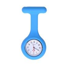 5 pcs lot fashion brooch Silicon professional nurse watch quartz watch pocket watch