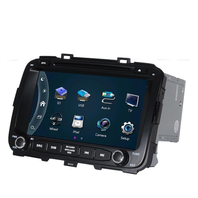 Free Ship Car DVD Player GPS Navigation System for Kia Carens 2013 2014 2015 SD USB RDS Analog TV Phonebook Bluetooth Handsfree