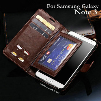 Super Wallet Stand Leather Case For Samsung Galaxy Note 3 III N9000 Phone Bag New 2015 Flip Style