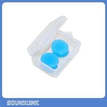 Free Shipping&drop shipping Silicon Resin Heat Shrinked Swimming Ear Plugs Waterproof Anti-noise Earplugs Sleeping
