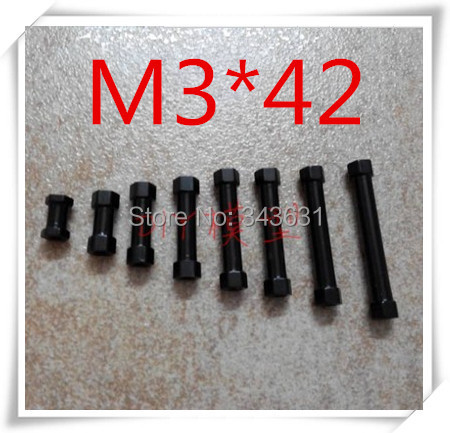 High Quality Multicopter Frame  M3 x 42mm  black Aluminium Hex Pillar Spacer standoff<br><br>Aliexpress