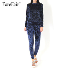 2 Piece Outfits Velvet Shining Colors Jumpsuit Womens Winter Casual Warm Tracksuit Set (Long-Sleeve Tops+Drawstring Pants)(China (Mainland))