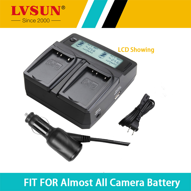 LVSUN NP-400 NP400 Dual Battery Charger For Konica Minolta A-5 A-7 Digital Dimage A1 A2 Dynax 5D 7D Maxxum 5D 7D Pentax D-LI50(China (Mainland))