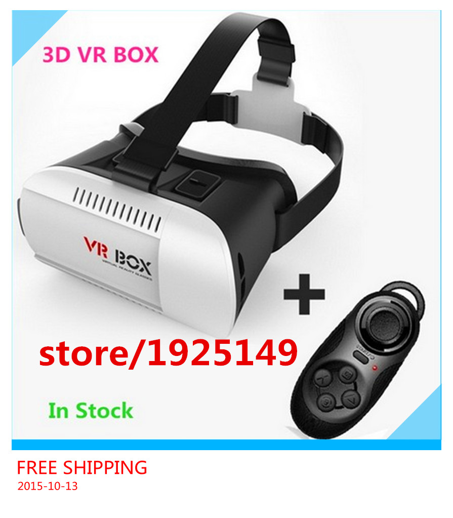 2PCS/LOT 2016 New Google cardboard VR BOX Version VR Virtual Reality Glasses + Smart Bluetooth Wireless Mouse / Remote Control(China (Mainland))