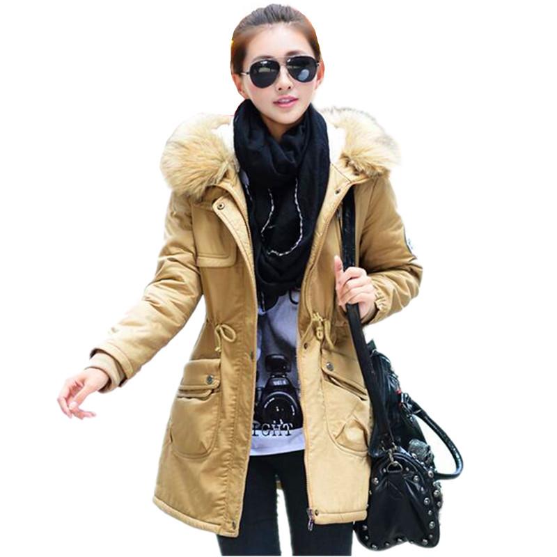 2015 New Fashion Winter Jacket Women Wadded Jacket Winter Coat Down Cotton Coat Slim Fur Parkas Womens Jackets And Coats IF154