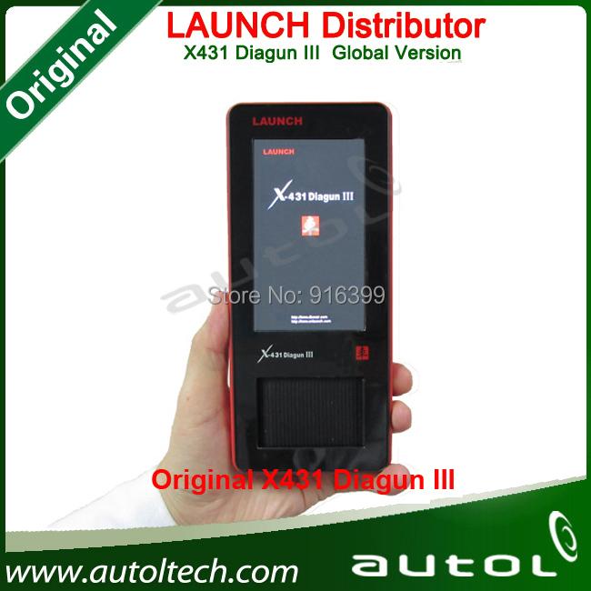 Original Launch X431 Diagun III Full Set Main Unit + Bluetooth DHL FAST SHIPPING Diagun 3 Diagun x-43 Launch scan tool(China (Mainland))