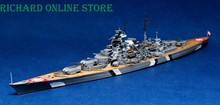 Free Shipping Trumpeter Model,1941 German Bismarck Battleship 1/700 Static Warship Hobby model(China (Mainland))