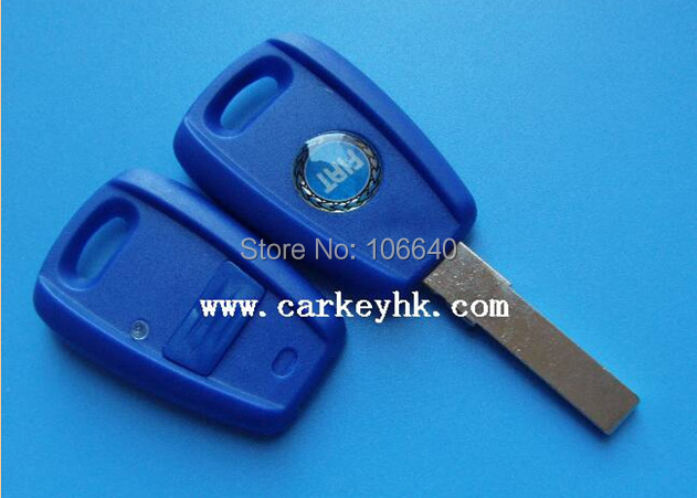 (Blue color) Fiat 1 button remote key shell cover , key fiat shell cover case with SIP22 blade