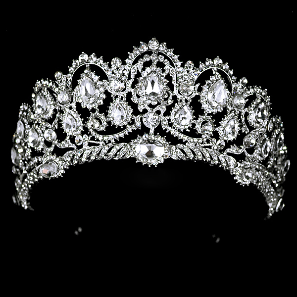 Free Shipping 2013 New Fashion Queen Big rhinestone Wedding Prom Party Pageant Crown Tiara For Sale<br><br>Aliexpress