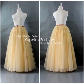 Real Photos! 7 Layers Maxi Long Women Skirts Wedding Bridal Bridesmaid Tulle Skirt Ball Gown Faldas Saias Femininas Plus Size